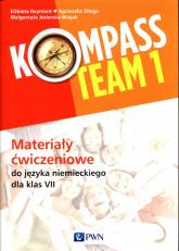 Kompass Team 1 Materiały ćwiczeniowe do języka niemieckiego dla klas 7 Szkoła podstawowa - Reymont Elżbieta, Sibiga Agnieszka, Jezierska-Wiejak Małgorzata | mała okładka
