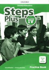 Steps Plus 4 Materiały ćwiczeniowe z kodem dostępu do Online Practice Szkoła podstawowa - Wheeldon Sylvia, de la Mare Christina | mała okładka