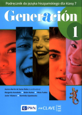 Generacion 1 Podręcznik do języka hiszpańskiego dla klasy 7 Szkoła podstawowa -    mała okładka