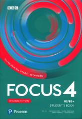 Focus Second Edition 4 Student's Book + kod Digital + MyEnglishLab + ebook Liceum technikum Poziom B2/B2+ -  | mała okładka