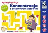 Koncentracja z detektywem Motywem Rysuję i zgaduję - Agnieszka Biela | mała okładka
