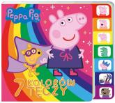 Peppa Pig Książka z registrami 7 kolorów tęczy - zbiorowe opracowanie | mała okładka