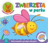 Zwierzęta w parku Kolorowanka z grubym obrysem, okrągłe naklejki, papierowa zabawka -  | mała okładka