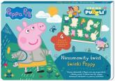 Peppa Pig Kraina puzzli Niesamowity świat świnki Peppy - zbiorowe opracowanie | mała okładka