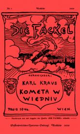 Kometa w Wiedniu Satyry i glosy z lat 1910-1920 - Karl Kraus | mała okładka
