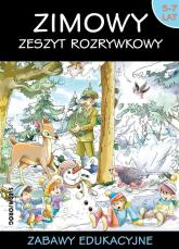 Zimowy zeszyt rozrywkowy Zabawy edukacyjne wiek 5-7 lat -  | mała okładka