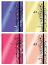 Terminarz wyjątkowej dziewczyny 2021 mix kolorów -  | mała okładka