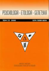 Psychologia Etologia GenetykaTom 22 2010 -    mała okładka