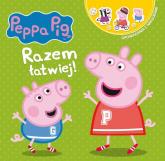 Peppa Pig Opowiadania z naklejkami Razem łatwiej! - zbiorowe opracowanie | mała okładka