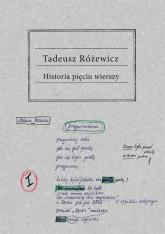 Historia pięciu wierszy - Tadeusz Różewicz | mała okładka