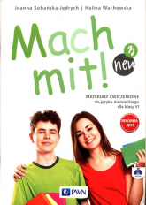 Mach mit! neu 3 Materiały ćwiczeniowe do języka niemieckiego dla klasy 6 Szkoła podstawowa - Sobańska-Jędrych Joanna, Wachowska Halina | mała okładka