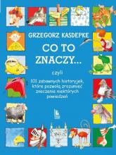 Co to znaczy 101 zabawnych historyjek które pozwolą zrozumieć znaczenie niektórych powiedzeń - Grzegorz Kasdepke | mała okładka