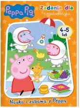 Peppa Pig Zadania dla przedszkolaka Nauka i zabawa z Peppą 4-5 lat. - zbiorowe opracowanie | mała okładka