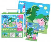 Peppa Pig Układaj i koloruj. - zbiorowe opracowanie | mała okładka