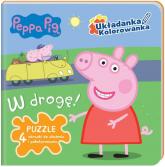 Peppa Pig Układanka - Kolorowanka W drogę. - zbiorowe opracowanie | mała okładka