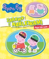 Peppa Pig Zabawy z naklejkami Peppa lubi ruch! -    mała okładka