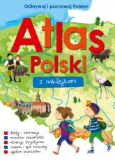 Atlas Polski z naklejkami  -  Opracowanie Zbiorowe | mała okładka
