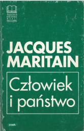 Człowiek i państwo - Jacques Maritain  | mała okładka
