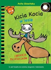 Kicia Kocia w lesie. Zwierzęta polskich lasów. Kolorowanka - Anita Głowińska   mała okładka