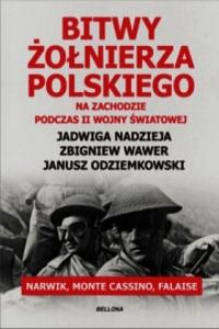 Bitwy żołnierza polskiego na Zachodzie podczas II wojny światowej. Narwik, Monte Cassino, Falaise - Nadzieja Jadwiga, Odziemkowski Janusz, Wawer    mała okładka