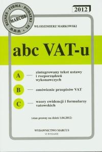 ABC VAT-u 2012 - Włodzimierz Markowski | mała okładka