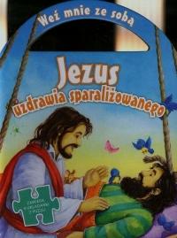 Jezus uzdrawia sparaliżowanego Zawiera 4 układanki z puzzli -  | mała okładka
