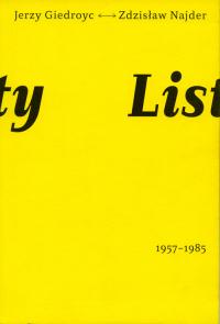 Listy 1957-1985 Jerzy Giedroyć Zdzisław Najder - Giedroyć Jerzy, Najder Zdzisław   mała okładka