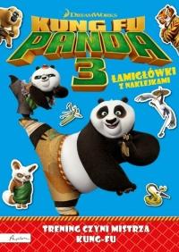 Dream Works Kung Fu Panda 3 Trening czyni mistrza Łamigłówki z naklejkami -    mała okładka