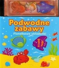 Podwodne zabawy Flanelkowe układanki - zbiorowa praca | mała okładka