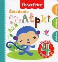 Fisher Price Puzzle Śniadanie małpki - Anna Wiśniewska   mała okładka