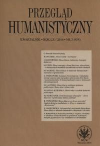 Przegląd Humanistyczny 3/2016 -  | mała okładka