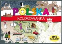 Polska Kolorowanka 240 naklejek -    mała okładka