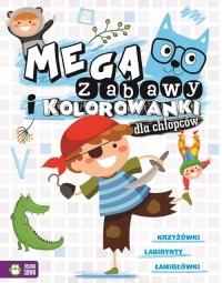 Megazabawy i kolorowanki dla chłopców - zbiorowa praca   mała okładka