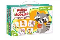 Dzieci kontra rodzice Memory zwierzaki - zbiorowa Praca   mała okładka