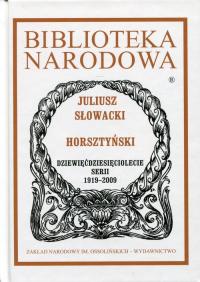Horsztyński - Juliusz Słowacki   mała okładka