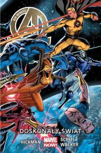 New Avengers Tom 4 Doskonały świat/ Marvel Now - Hickman Jonathan, Schiti Valerio, Walker Kev   mała okładka