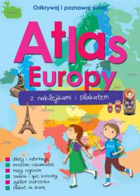 Atlas Europy z naklejkami i plakatem -  | mała okładka