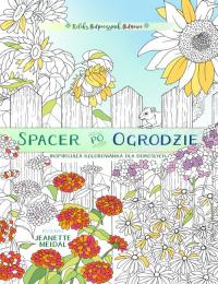 Spacer po ogrodzie - kolorowanka dla każdego -  | mała okładka