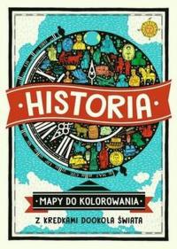 Historia Mapy do kolorowania Z kredkami dookoła świata - Imogen Williams   mała okładka