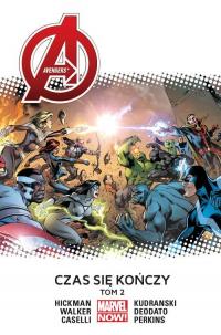 Avengers Czas się kończy tom 2 - Hickman Jonathan, Caselli Stefano, Deodato Mike, Kudrański Szymon, Perkins Mike, Walker Kev | mała okładka