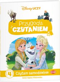 Disney Uczy Przygoda z czytaniem Kraina Lodu Czytam samodzielnie poziom 4 Czytanie metodą sylabową - Agata Widzowska | mała okładka