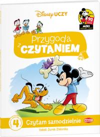 Disney Uczy Przygoda z czytaniem Mickey Mouse Czytam samodzielnie poziom 4 Czytanie metodą sylabową - Jurek Zielonka | mała okładka