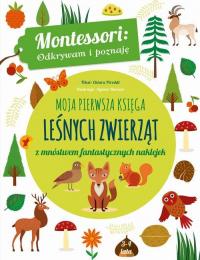 Moja pierwsza księga leśnych zwierząt z mnóstwem fantastycznych naklejek - Chiara Piroddi   mała okładka