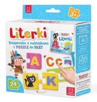 Literki Książeczka z naklejkami i puzzle do pary -  | mała okładka