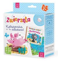 Zwierzęta Książeczka i cztery układanki Puzzle dla malucha -  | mała okładka