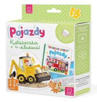 Pojazdy Książeczka i cztery układanki Puzzle dla malucha -  | mała okładka