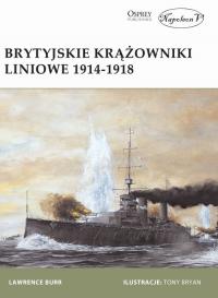 Brytyjskie krążowniki liniowe 1914-1918 - Burr Lewerence | mała okładka