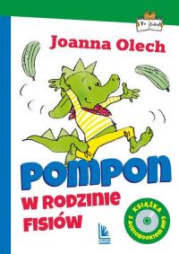 Pompon w rodzinie Fisiów z audiobookiem - Joanna Olech   mała okładka