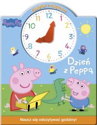 Świnka Peppa Książka z zegarem Dzień z Peppą -  | mała okładka