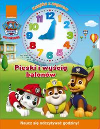 Psi Patrol Książka z zegarem Pieski i wyścig balonów -  | mała okładka